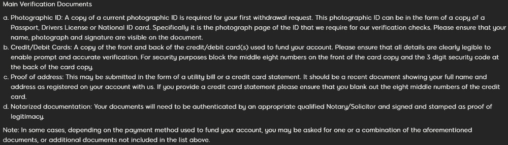 888 casino ID verification details for withdrawal