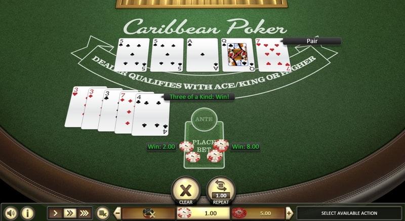 carribian poker not on Gamstop