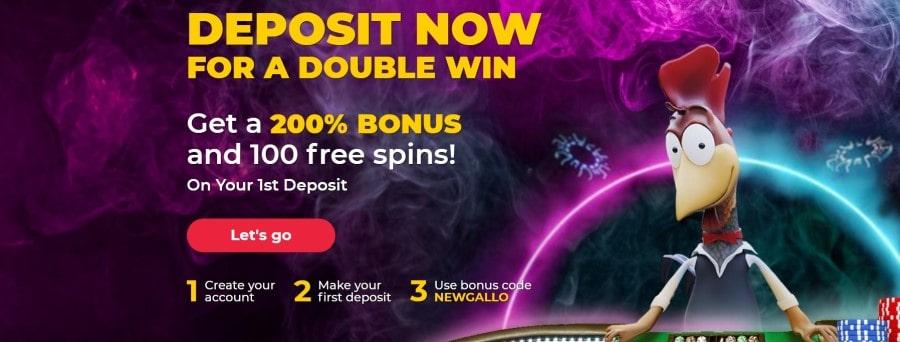 gallo casino welcome bonus